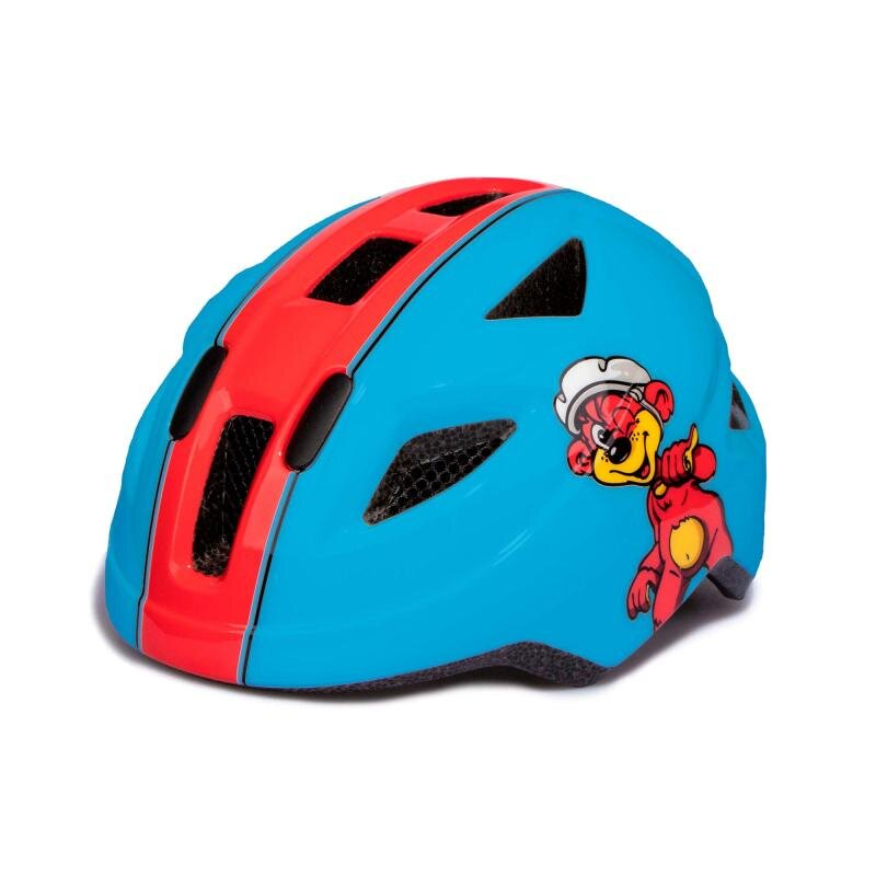 Puky cykelhjelm, blå/rød, 45-51 cm