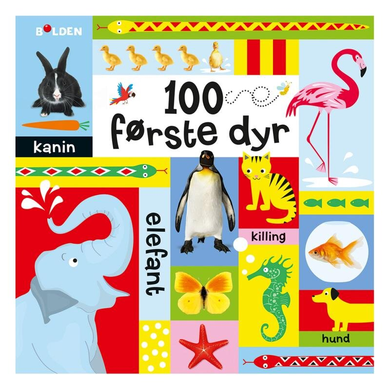 Image of 100 første dyr, børnebog (2050012)