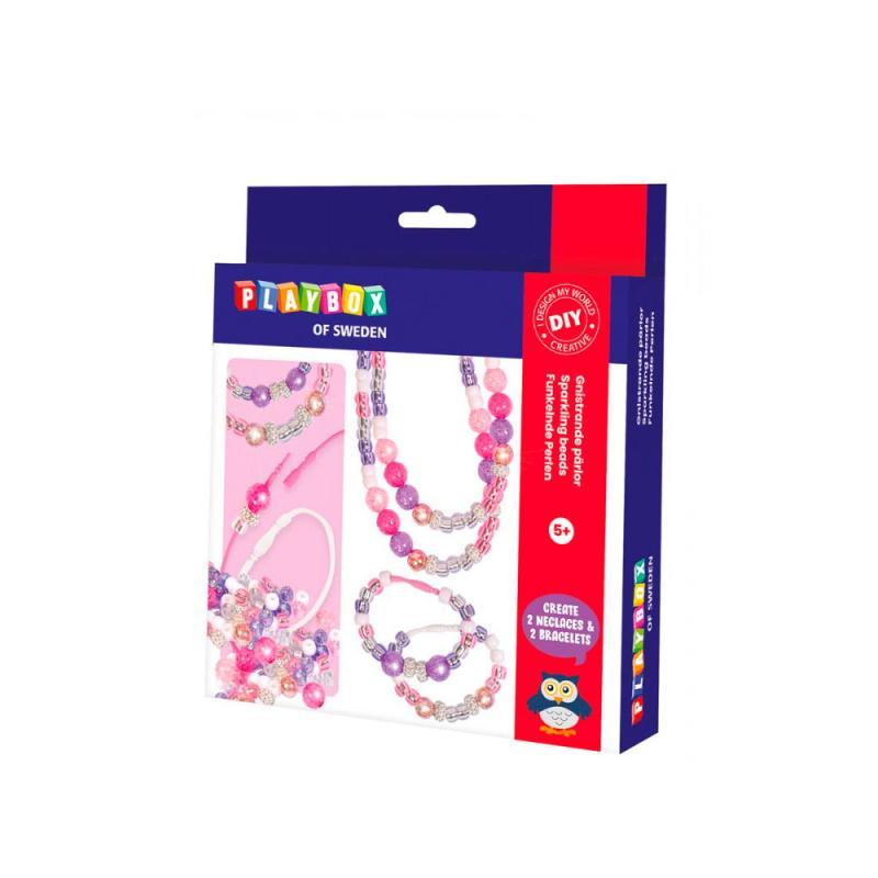 Image of Perlesæt, glitter perler (2098598)