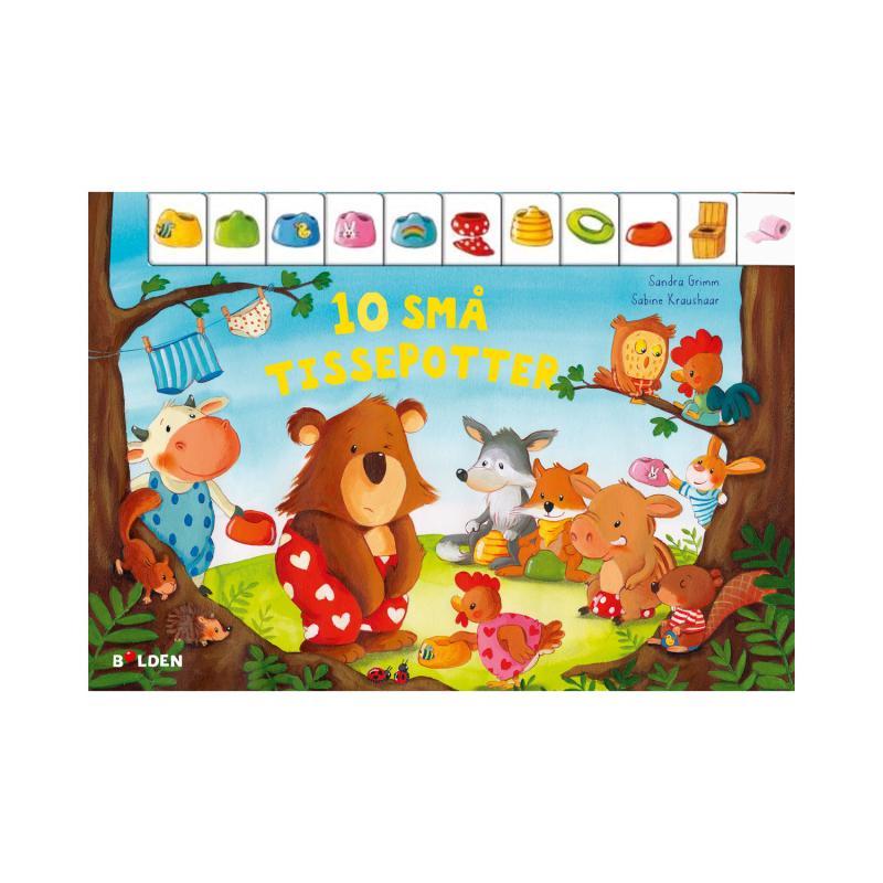 Image of 10 små tissepotter, børnebog (2140980)