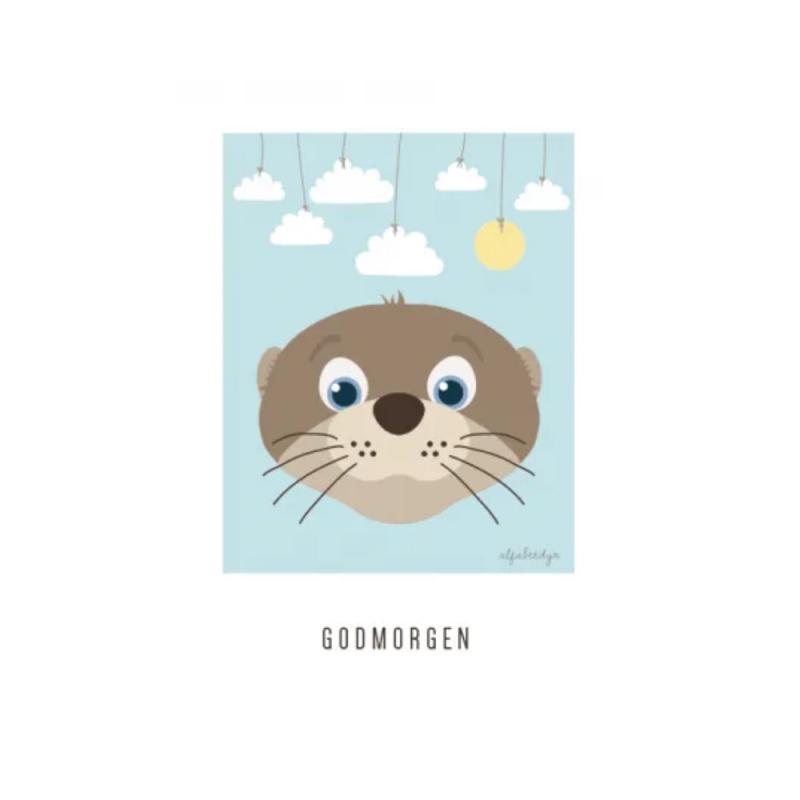 Image of Alfabetdyr Godmorgen plakat A5 (2301989)
