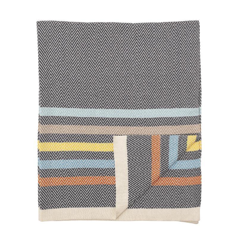 Image of Bloomingville tæppe med striber (2302189)