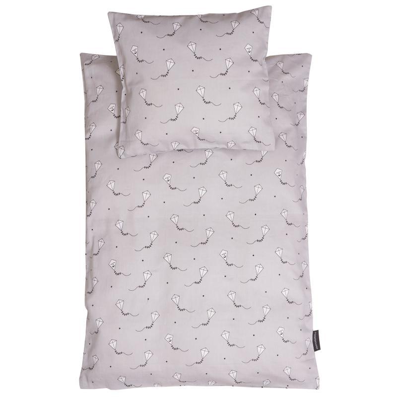 Image of Baby sengetøj, grå drage (1403880)